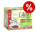 30 kn popusta na XXL miješano pakiranje Catessy zalogajčića144 x 100 g