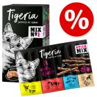 Kokeilupakkaus Tigeria märkäruoka 6 x 85 g + Tigeria Sticks -mix 10 x 5 g