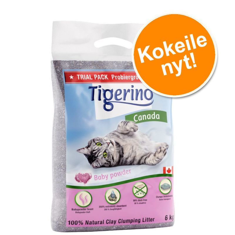 Kokeilupakkaus: Tigerino Canada -kissanhiekka 6 kg