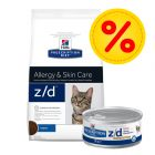 Kombipack: Hill's z/d Food Sensitivities Prescription Diet Feline kattfoder