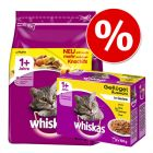 Kombipaket Whiskas - 800 g Trockenfutter + 12 Pouches