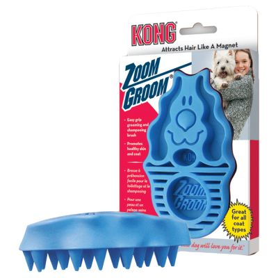 Kong Dog Massageborstel  Zoom Groom