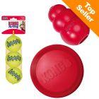 KONG økonomisæt: Frisbee, KONG Classic, tennisbolde