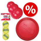 KONG-lelusetti: frisbee, KONG Classic, tennispallot