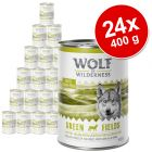 Økonomipakke: 24 x 400 g Wolf of Wilderness Adult