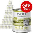 Økonomipakke: 24 x 800 g Wolf of Wilderness Adult