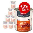Økonomipakke Animonda GranCarno Kjøtt Pur Adult 12 x 800 g