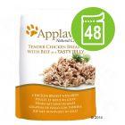 Økonomipakke Applaws porsjonsposer i gelé 48 x 70 g