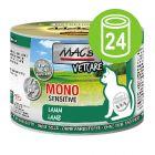Økonomipakke MAC´s Cat Mono Sensitive 12 x 200 g