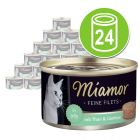 Økonomipakke Miamor Fine Filéter 24 x 100 g