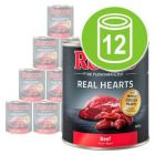 Økonomipakke Rocco Real Hearts 12 x 800 g