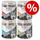 Økonomipakke Wolf of Wilderness RAW - Frysetørkede premiumsnacks