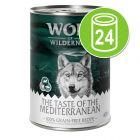 """Økonomipakke Wolf of Wilderness """"The Taste Of"""" 24 x 400 g"""