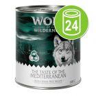 """Økonomipakke Wolf of Wilderness """"The Taste Of"""" 24 x 800 g"""