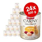 Økonomipakke: 24 x 800 g Animonda Carny Monoprotein Adult