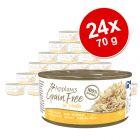 Økonomipakke: 24 x 70 g Applaws Grainfree i bouillon kattemad