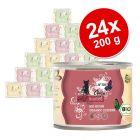 Økonomipakke: 24 x 200 g catz finefood øko