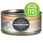 Økonomipakke: 12 x 70 g Greenwoods Adult Våtfôr