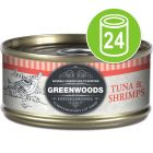 Økonomipakke: 24 x 70 g Greenwoods  Adult Våtfôr