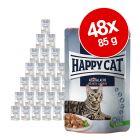 Økonomipakke: 48 x 85 g Happy Cat Kød i Sovs portionspose