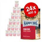 Økonomipakke: 24 x 400 g Happy Dog pur