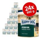 Økonomipakke: 24 x 800 g Happy Dog Pur