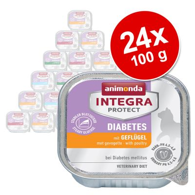 Økonomipakke: 24 x 100 g  Integra Protect Adult Diabetes i bakke