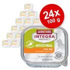 Økonomipakke: 24 x 100 g Integra Protect Adult Intestinal i bakke