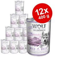 Økonomipakke: 12 x 400 g Little Wolf of Wilderness