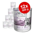 Økonomipakke: 12 x 800 g Little Wolf of Wilderness