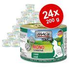 Økonomipakke: 24 x 200 g MAC's Cat kattefoder & Mono Sensitive