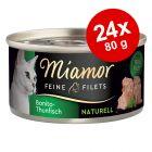 Økonomipakke: 24 x 80 g Miamor Fine Fileter Naturel