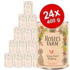 Økonomipakke: 24 x 400 g Rosie's Farm Puppy