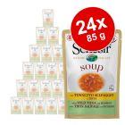 Økonomipakke: 24 x 85 g Schesir Cat Soup