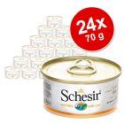 Økonomipakke: 24 x 70 g Schesir i bouillon