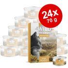 Økonomipakke: 24 x 70 g Wild Freedom Adult
