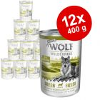 Økonomipakke: 12 x 400 g Wolf of Wilderness Senior