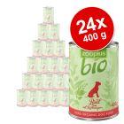 Økonomipakke: 24 x 400 g zooplus bio - økologisk hundefoder