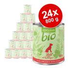 Økonomipakke: 24 x 800 g zooplus bio - økologisk hundefoder