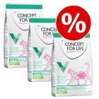 Økonomipakke: 3 x 3 kg Concept for Life Veterinary Diet kattefoder