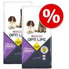 Økonomipakke: 2 x 12,5 kg Opti Life hundefoder