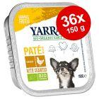 Økonomipakke: Yarrah Øko i alubakke 36 x 150 g hundefoder