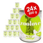 Økonomipakke: zoolove hundefoder 24 x 800 g