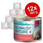 Konzerva Schmusy Nature s rybí příchutí 12 x 185 g