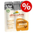40% korting! 15 g Almo Nature Holistic Snack Cat