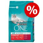 15% korting! 3 kg Purina ONE droogvoer
