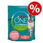 30% korting! 1,4 kg Purina ONE Dual Nature Sterilized Kattenvoer