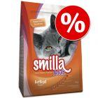 € 5,- korting op 10 kg Smilla Kattenvoer