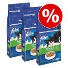 15% korting! Voordeelpakket Felix Sensations Kattenvoer 3 x 2 kg