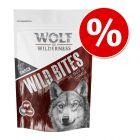 """Korzystny pakiet Wolf of Wilderness Snack – Wild Bites """"The Taste of"""", 3 x 180 g"""